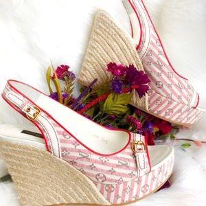 Louis Vuitton Mini Anemone Wedges Sandals